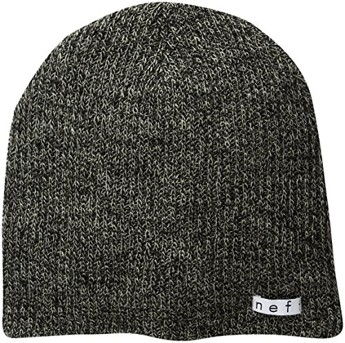 neff Unisex-Adults Daily Heather Beanie, Twill/Black, One Size (Acrylic Multi Platform)