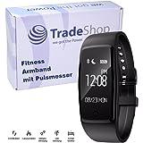 Ultra Slim Fitness Tracker mit Anrufanzeige Nachrichtenanzeige Herzfrequenzmessung Schlafmonitor Fernauslöser Musiksteuerung IP67 Spritwassergeschützt für Android/iPhone Bluetooth Verbindung