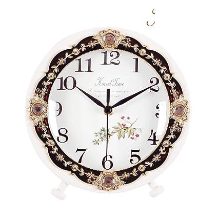 luz de lujo reloj reloj de madera retro estilo europeo ...