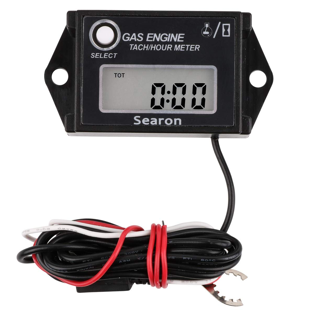 amazon com: searon digital hour tachometer rpm counter for snowmobile skis  motor bike go kart lawn mower: home & kitchen