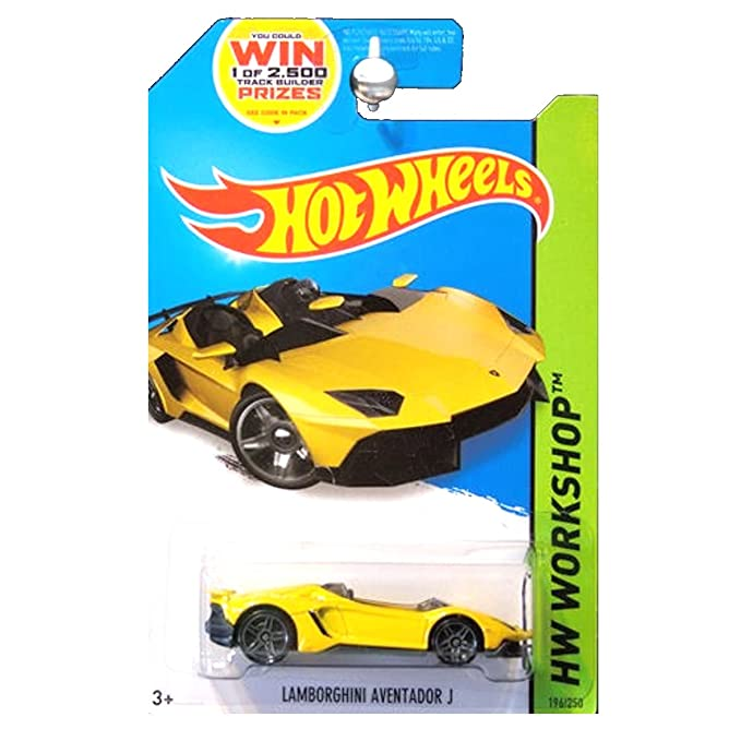 Amazon.com: Hot Wheels 2014 HW Workshop All Stars Lamborghini Aventador J  In Yellow: Toys U0026 Games