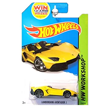 Hot Wheels Lamborghini Aventador J 2014 Release Yellow Hot Wheels