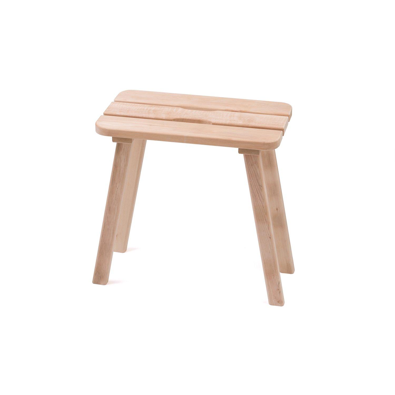 Pinetta Sauna stool - black alder, 50x35x50 cm