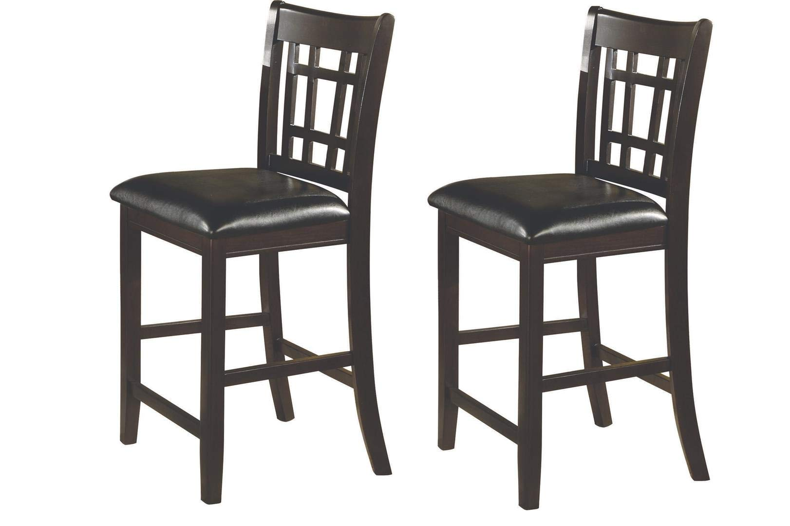 Lavon 24'' Counter Stools Black and Espresso (Set of 2) by Coaster Home Furnishings