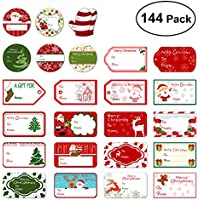 Tinksky Christmas Self Adhesive Gift Tag Stickers Santa...