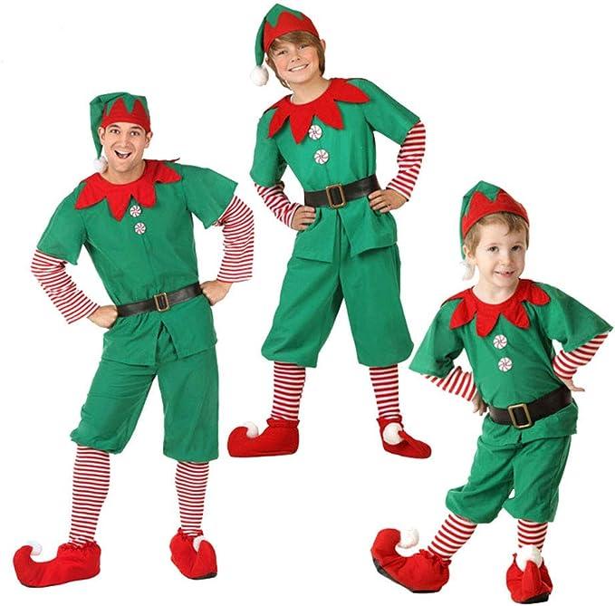 LPATTERN Disfraz de Elfo para Navidad Niños Adultos Traje de ...