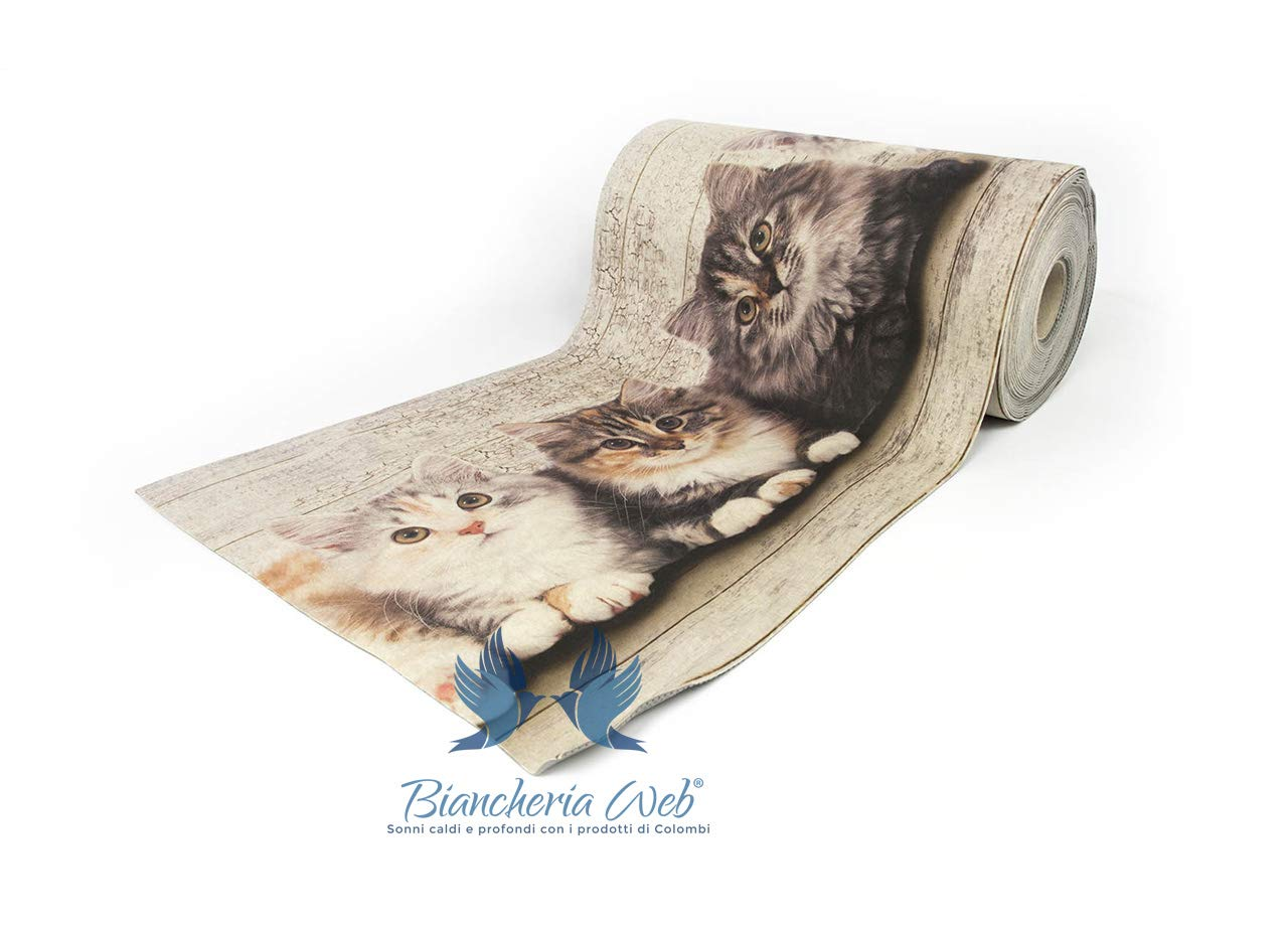 BIANCHERIAWEB Tappeto Passatoia Antiscivolo Disegno Pet 50x100 Pet COINGROSTEX