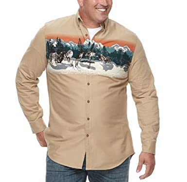 af8d78d3031 Amazon.com  Croft   Barrow Men s Big   Tall Regular-Fit Twill Button ...