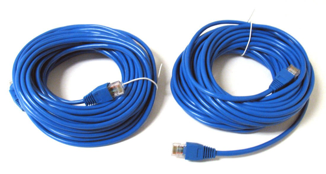 2 Pack 30/' ft 30FT RJ45 CAT5 CAT5E LAN Network Cable for Ethernet Router Switch