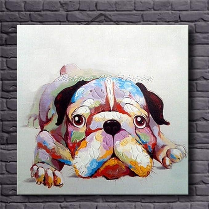 zxddzl Arte Pintado a Mano Pintura al óleo Abstracta Animal Pared ...