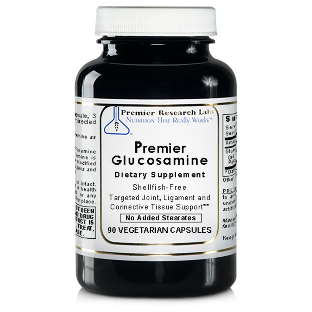 Premier Research Labs Glucosamine, 360 VCaps, Vegan - Shellfish-free, Targeted Joint, Ligament and Connective Tissue Support