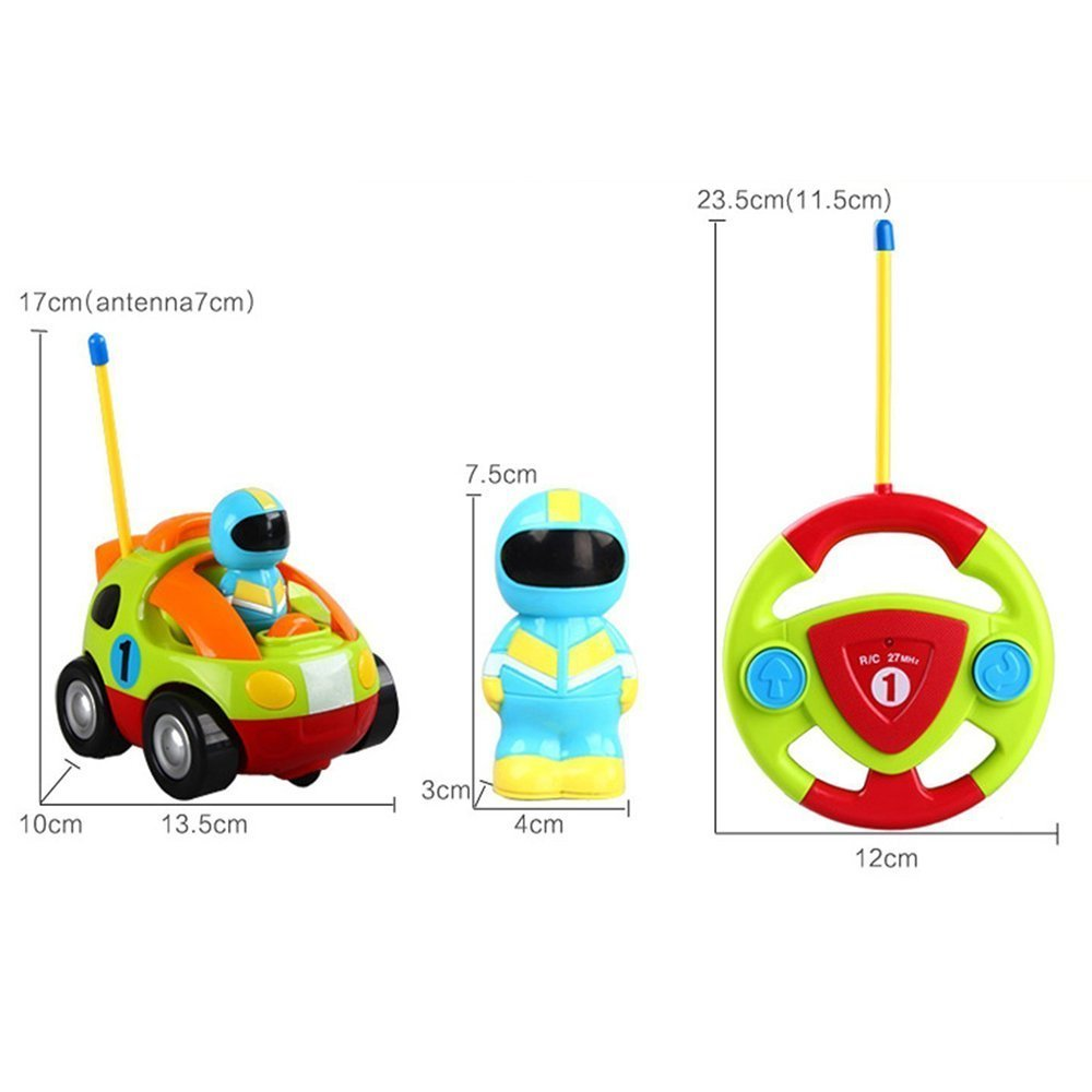 Holy Stone RC Cartoon Race Car with Music & Lights Electric Radio Control Toy for Baby Toddlers Kids & Children by Holy Stone (Image #6)
