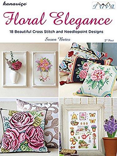 Floral Elegance  18 Birbirinden Güzel Kanaviçe Ve Goblen Modeli
