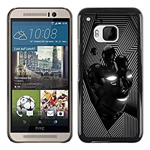 All Phone Most Case / Hard PC Metal piece Shell Slim Cover Protective Case for HTC One M9 Lines Face Modern Black Lines Pattern