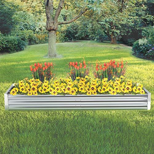Kotulas Galvanized Steel Raised Garden Bed - 8ft. x 3ft.