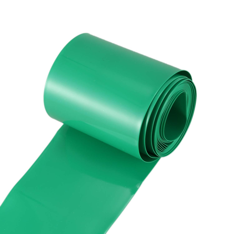Moligh doll 2M 50mm Verde oscuro PVC Tubo de encogimiento de calor Envoltura para 2 x 18650 bateria