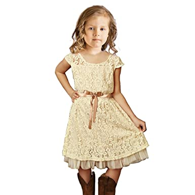 c086977bde1 Amazon.com  Topmaker Cream Flower girl dress