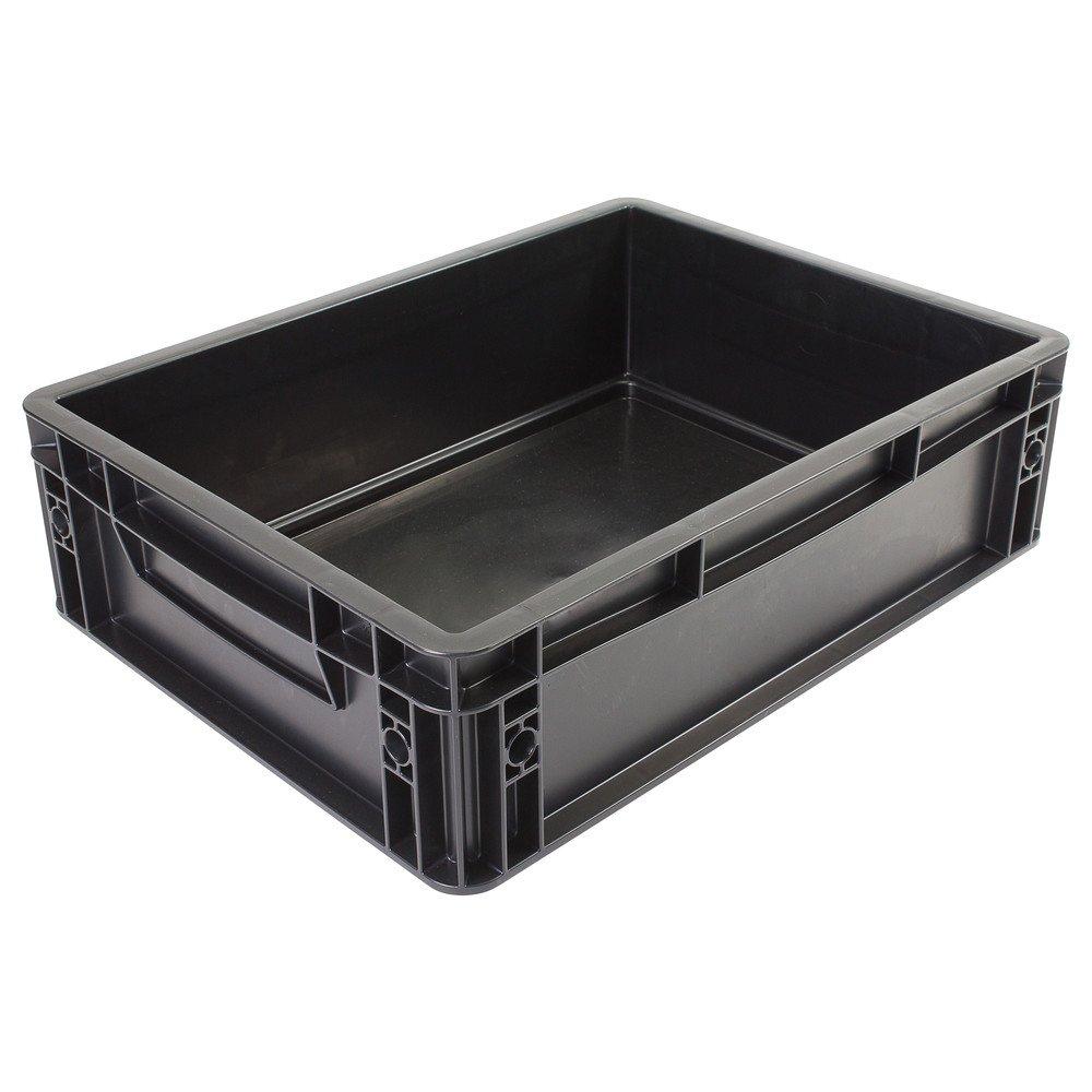 Wetec Lagerbehälter, mit Unterfassgriff, ESD, 600 x 400 x 220 mm
