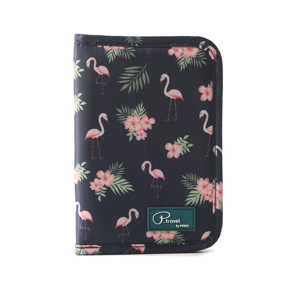 Lmeison Travel Passport Wallet RFID Blocking Multi Credit Card Case Clutch Purse Waterproof Document Organizer with Zipper Phone Pocket for Women Ladies Girls