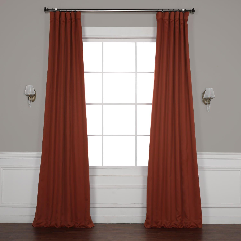 Spiced Berry 50 x 108 HPD HALF PRICE DRAPES BOCH-194906-108 Room Darkening Curtain 50 x 108 Dark Mallard 1 Panel
