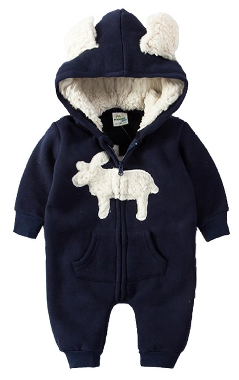 3a0e30c5b Amazon.com  Baby Boys Girls Christmas Cartoon Deer Thick Hooded ...