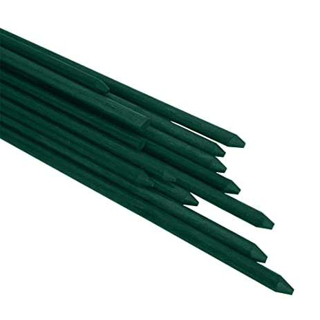 Garden Stakes 84inches Fiberglass Plant Stakes, Pack Of 20, Dark Green