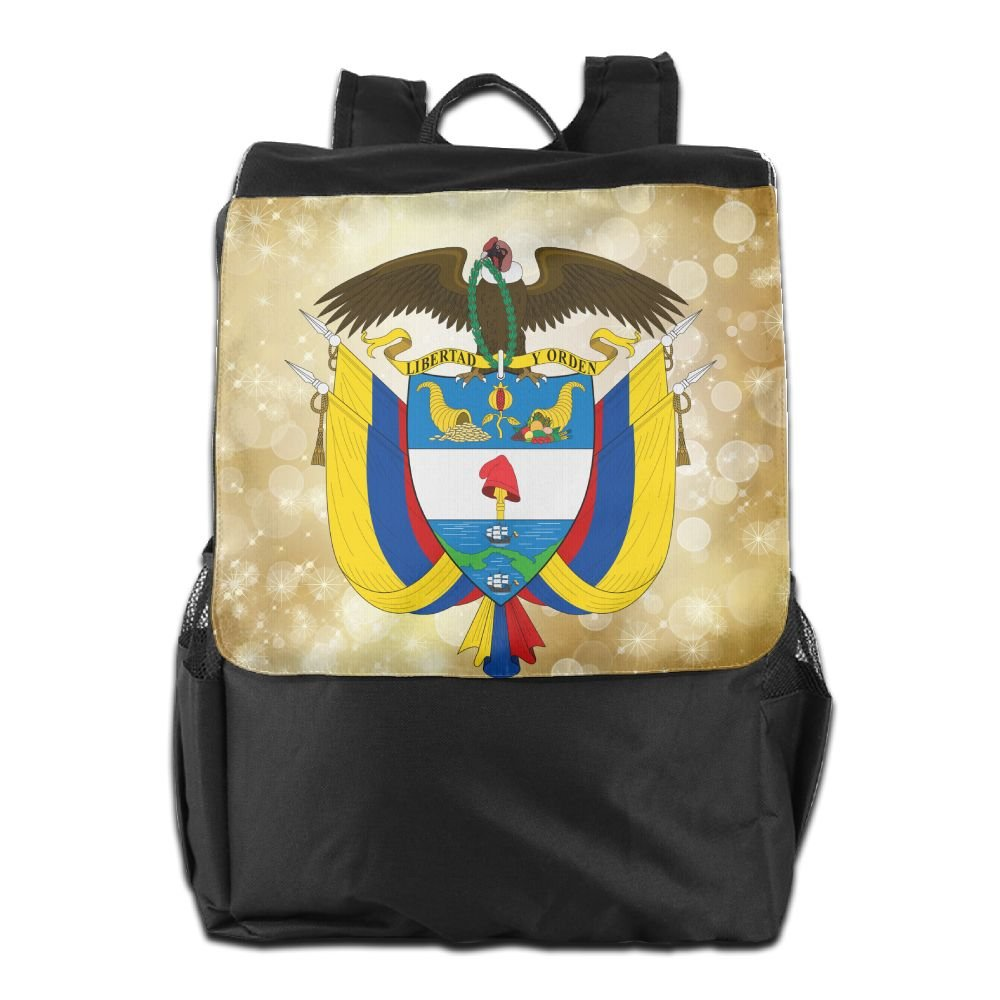 Coat Of Arms Of Colombia Fashion Backpack Travel Shoulder Bag For Men Women And Teens