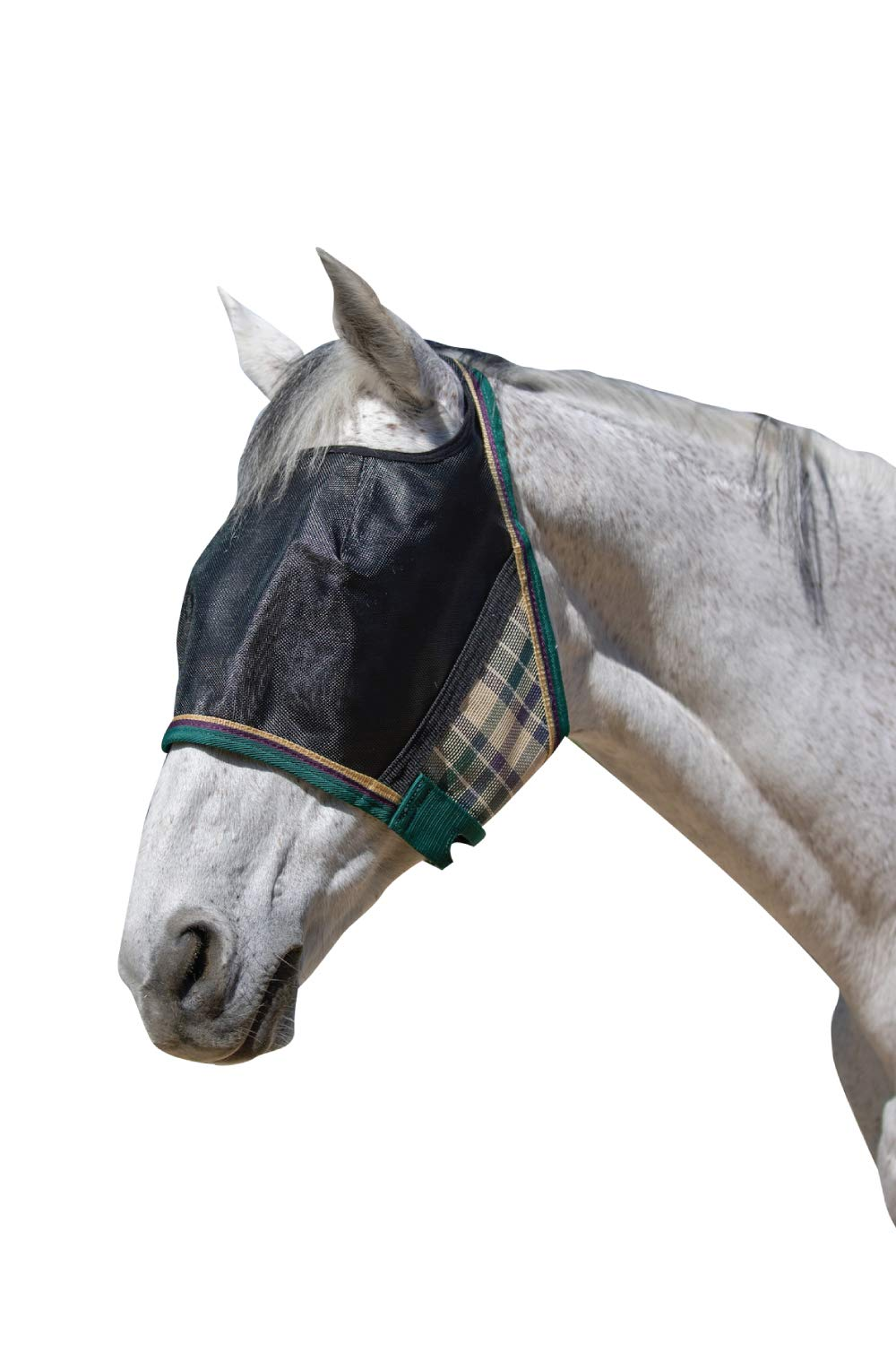 Kensington UViator Protective Fly Mask - Newest UV Solar Screen Protection with a 90% UV Rating - Double Locking CatchMask Fasteners - Non Heat Transferring Fabric (Deluxe Hunter, X-Large)