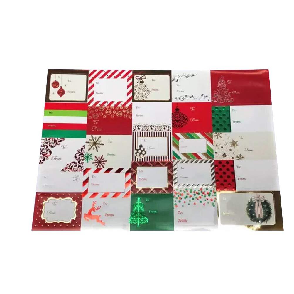 BESTOYARD Adesivi di Auguri Natalizi indirizzi Etichette Etichette Regali Regali di Natale (6 Fogli)