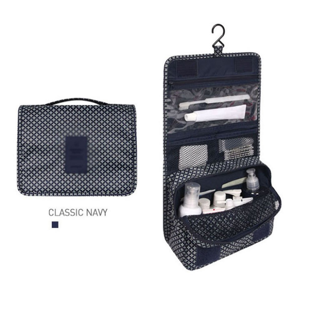 Toiletry bag CAICOLOR Foldable Hanging Waterproof, Travel Wash Bag for Men &Women Foldable Compact Size, Zipper, Portable Coat Hangers as GIFT, Various Patterns Available (PATTERN : 4)