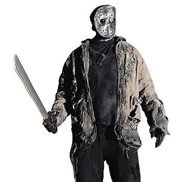 NET TOYS Máscara de halloween de Jason con machete