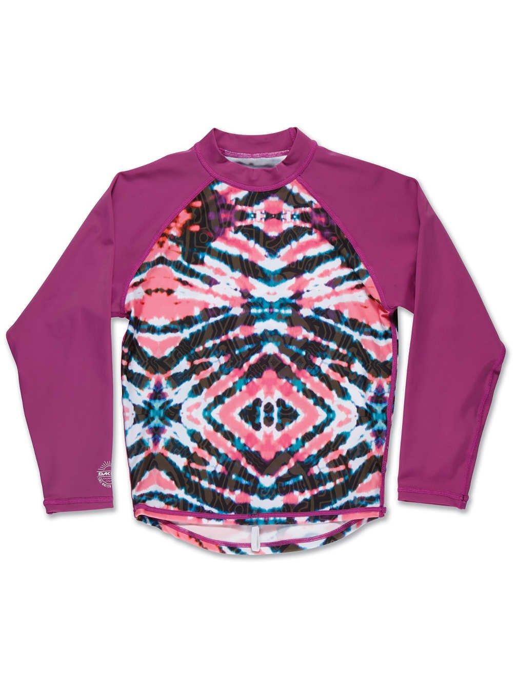 Dakine Girl's Classic Long Sleeve Rashguard Shirt, Watermelon Burst, 8