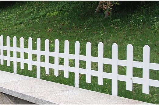 ZHANWEI 2 Paquetes Valla de jardín Bordura de jardín Blanco Césped Barandilla Protectora Al Aire Libre Patio Decoración De Bordes (Color : White, Size : 90x73cm): Amazon.es: Jardín