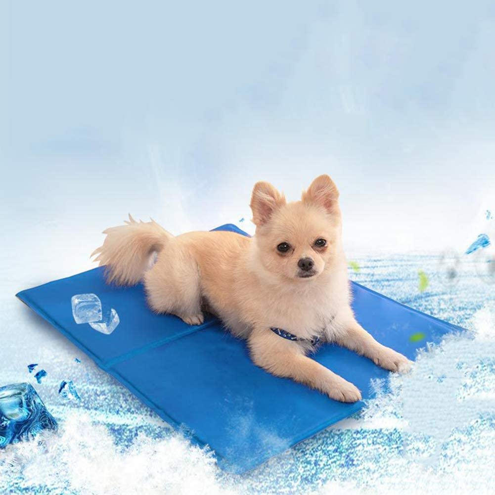 OMLTER Soft Thick Non-deformable Bite-Resistant Pet Ice Pads, Easy to Clean and Comfortable Non-Sticky Dog Mat, Summer for Cats and Dogs Sleeping Mat,M