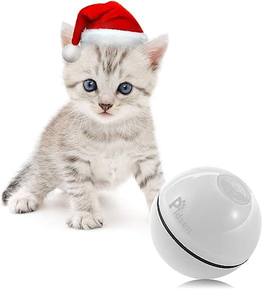 Pidsen Juguetes Gatos Pelotas, Bola de Gato, Juguete Interactivo Gatito Carga USB Bola Giratoria Automática, Bola Eléctrica de 360 Grados con luz LED para Animal Doméstico Gatos: Amazon.es: Productos para mascotas