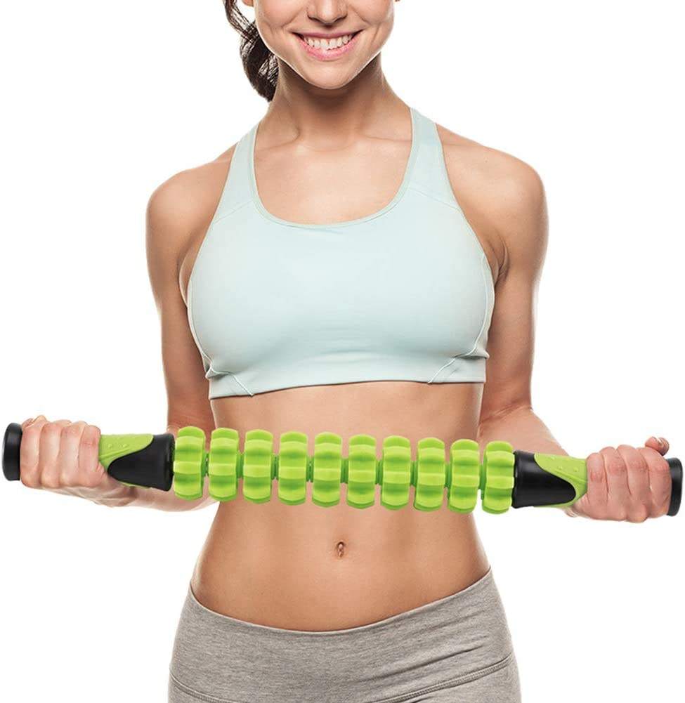 Doeplex Muscle Roller Massage Stick for Athletes, 17.5 Body Massager Soreness, Cramping Pain Tightness Relief Helps Legs Back Recovery Tools, Travel Size