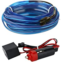 12V Car Interior Light Strip Modified Atmosphere 3M Neon El Wire for Car Decoration, Blue