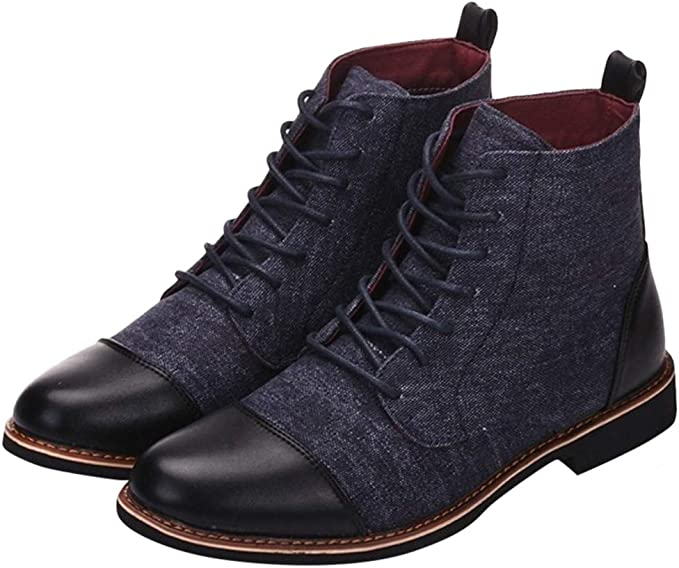 Mens Canvas Shoe Lace Up Shoe in Blue by Red Fish