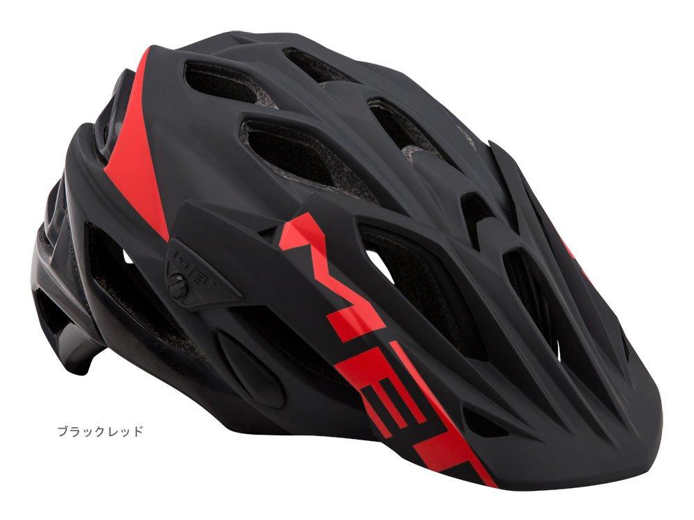 MET メット パラベリウム HES MTBヘルメット ブラックレッド M 7S15190246147   B071ZFKLG1