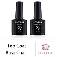 COSCELIA UV Gel Nail Polish-Top and Base Coat Kit Gel Nail Polish Surface Set