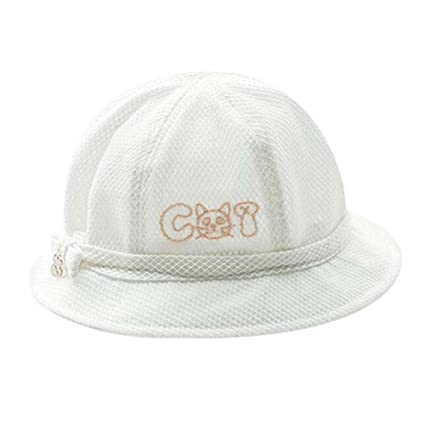 b1013079c43 Buy PANDA SUPERSTORE White Lovely Sunhat Great Gift Foldable Beach Hat  Summer Hat Cotton Hat Baby Cap Online at Low Prices in India - Amazon.in