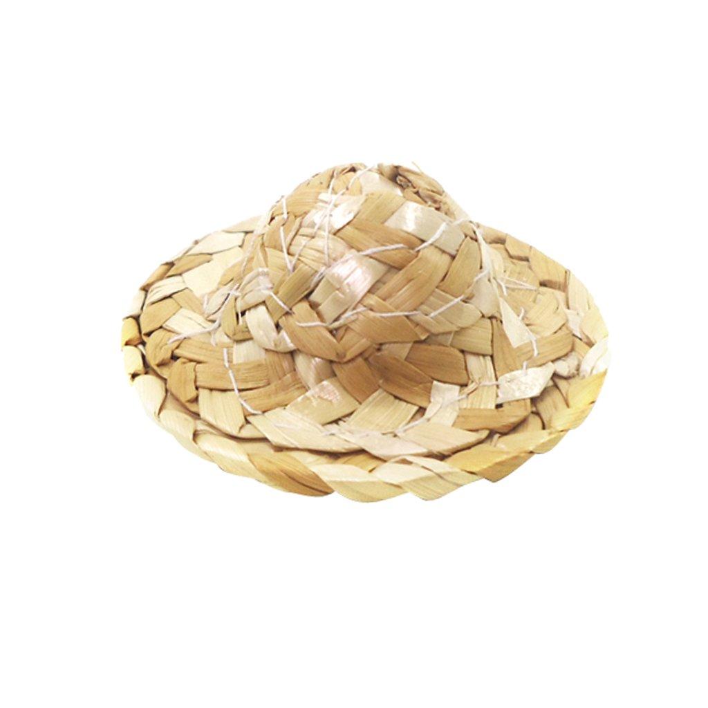 Chapeau de Paille Convient pour 15cm Poup/ées ou Autres Poup/ées F Fityle Accessoire de Poup/ée