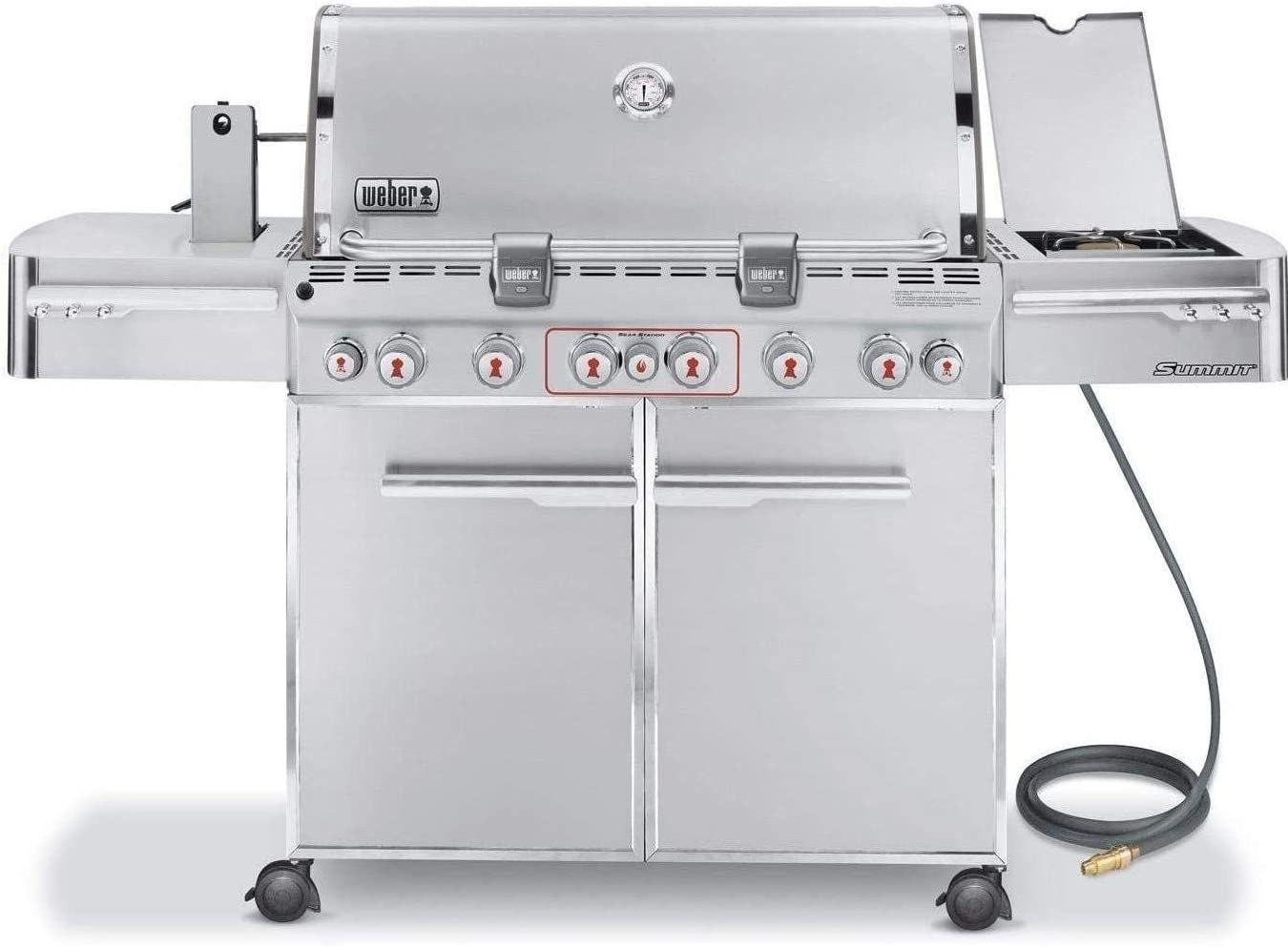 Weber 7470001 Summit S-670 6-Burner Natural Gas Grill, Stainless Steel