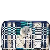 Vera Bradley Women's Rfid Turnlock Wallet Santiago Woven One Size