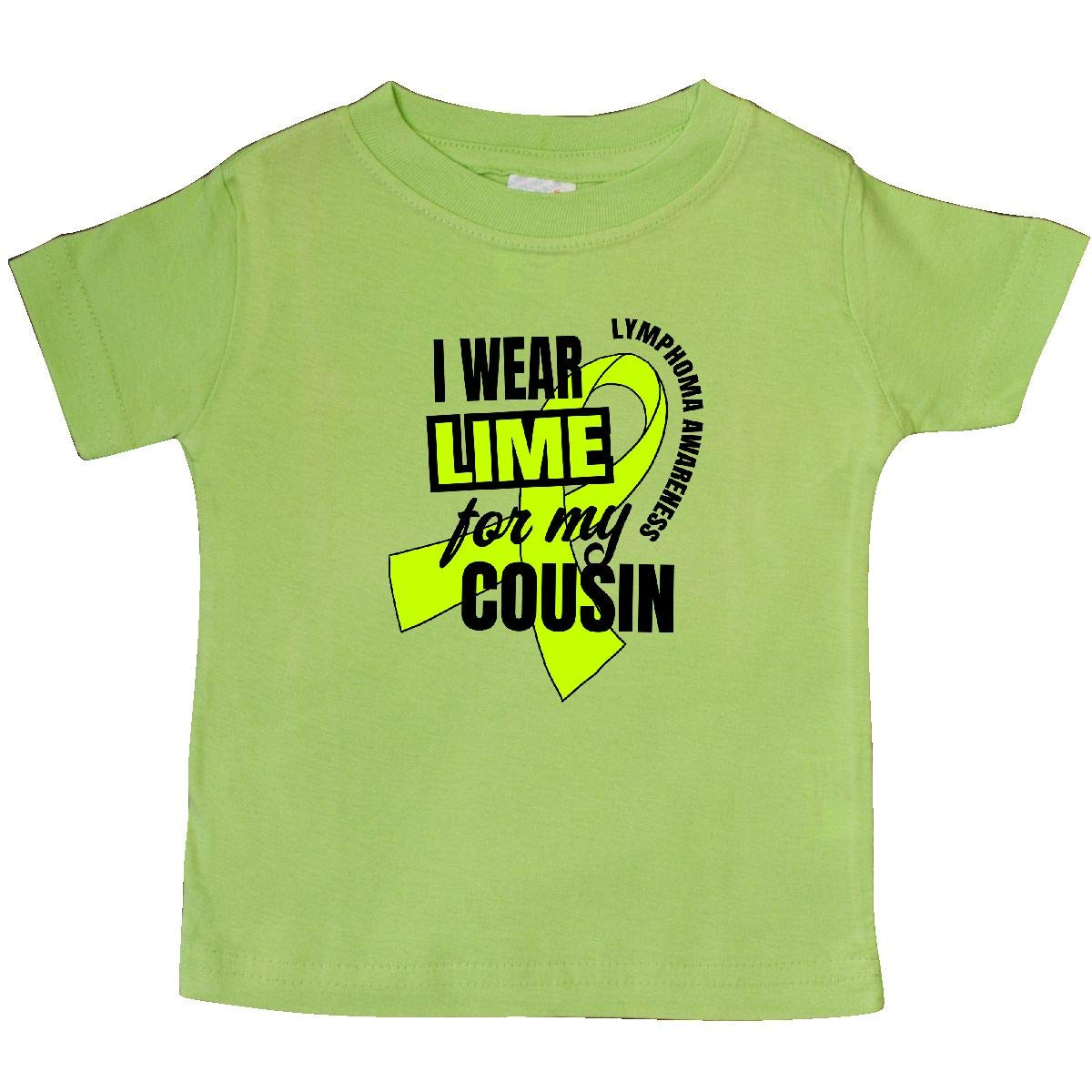 inktastic I Wear Lime for My Cousin Lymphoma Awareness Baby T-Shirt