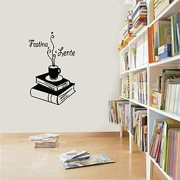 pegatina de pared 3d pegatina de pared frases Festina Lente Cita ...