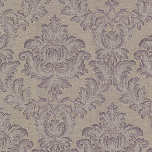 (Mirage 2601-20805 Oldham Damask Wallpaper, Purple )