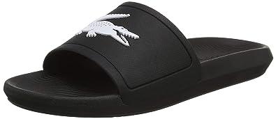 60cfd6bacdad Lacoste Men s Croco Slide 119 1 CMA Open Toe Sandals  Amazon.co.uk ...