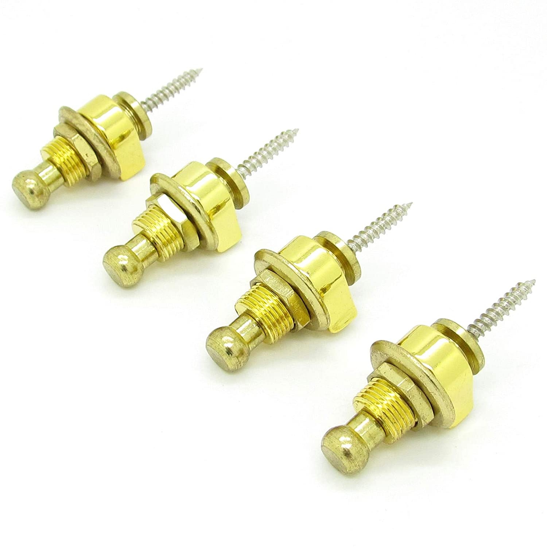 Schaller Style Guitar Replacements 4 pcs Guitar Strap Lock Round Head Guitar Bass Security Straplocks Strap Retainer