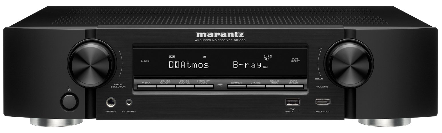 Marantz NR1606 7.2 Channel Network AV Surround Receiver with Bluetooth and Wi-Fi by Marantz